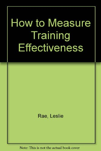 How to Measure Training Effectiveness By Leslie Rae