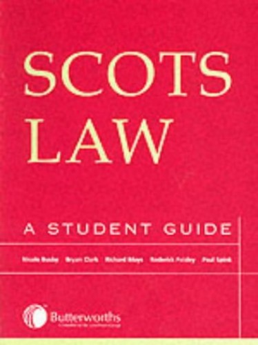 Scots Law: A Student's Guide by Paisley, Professor Roderick Paperback Book The
