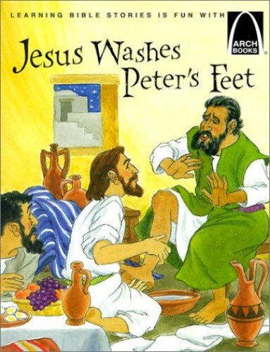 Jesus Washes Peter's Feet By Glynis Belec