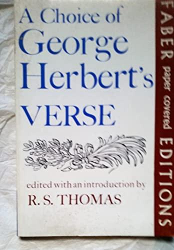 Choice of George Herbert's Verse By George Herbert