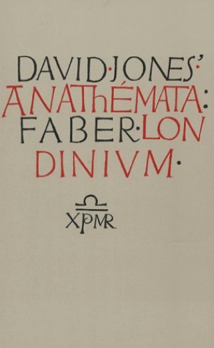 The Anathemata By David Jones
