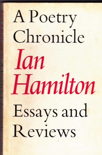 Poetry Chronicle By Ian Hamilton