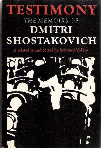 Testimony By Dmitri Dmitrievich Shostakovich