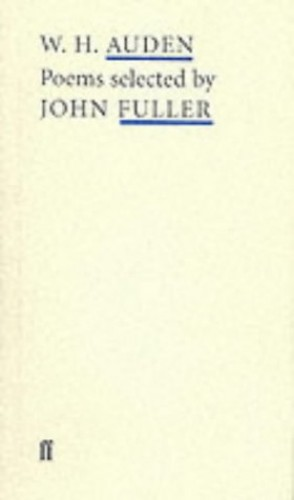 Details About Wh Auden Poems Selected By John Fuller By Auden Wh Paperback Book The Fast
