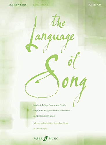 The Language Of Song: Elementary (Low Voice) By Nicola-Jane Kemp