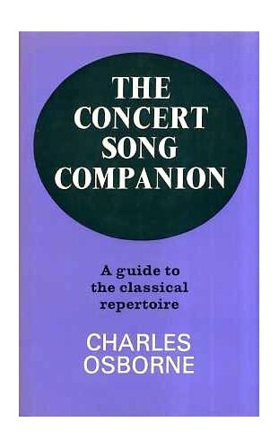 Concert Song Companion By Charles Osborne