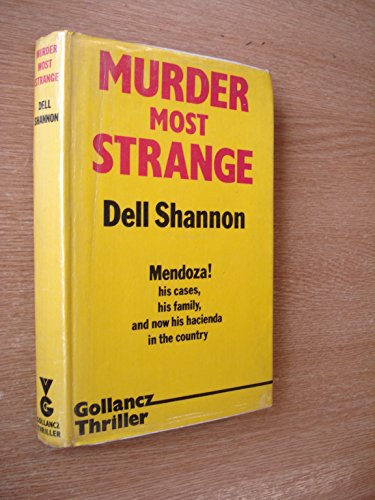 Murder Most Strange By Dell Shannon