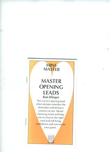 Master Opening Leads By Ron Klinger