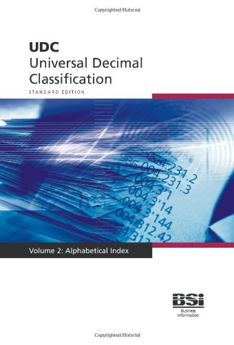 Universal Decimal Classification (UDC). Complete edition. Volume 2. Alphabetical Index