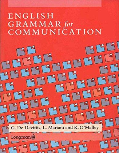 English Grammar for Communication By G.De Devitiis