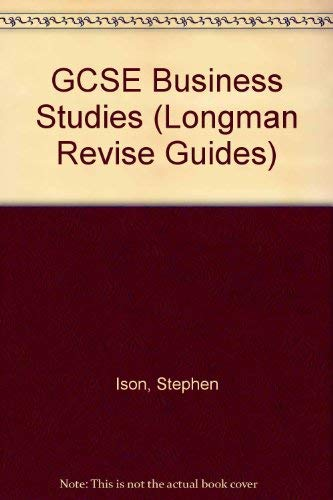 GCSE Business Studies By Stephen Ison