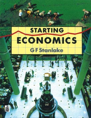 Starting Economics Paper By George F. Stanlake