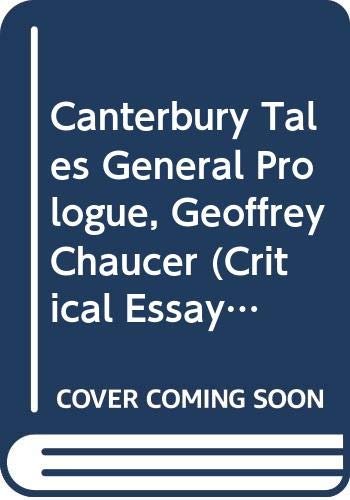 """""""Canterbury Tales General Prologue"""", Geoffrey Chaucer By Linda Cookson"""