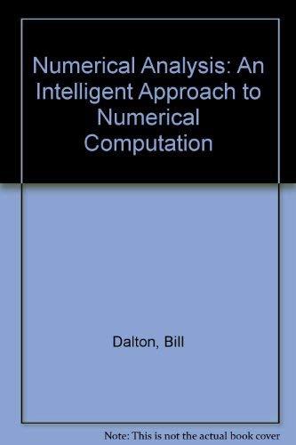 Numerical Analysis By Bill Dalton