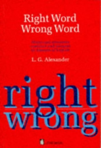 Right Word Wrong Word Paper By L. G. Alexander
