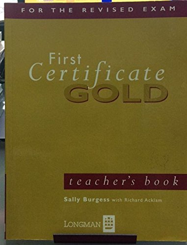 First Certificate Gold By Richard Acklam