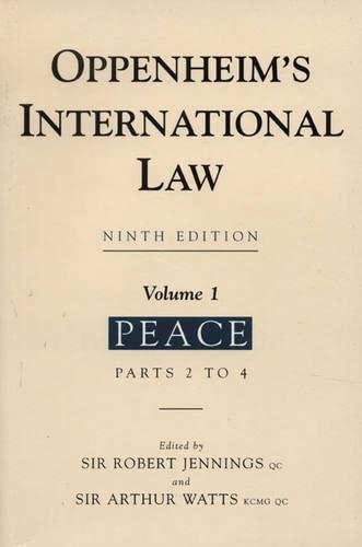 Oppenheim's International Law By Lassa Oppenheim