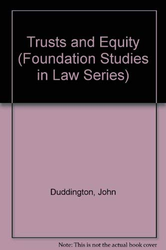 Trusts and Equity By John Duddington