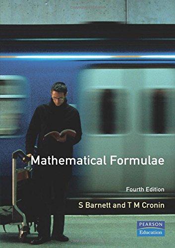 Mathematical Formulae By Stephen Barnett
