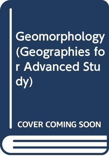 Geomorphology By B.W. Sparks