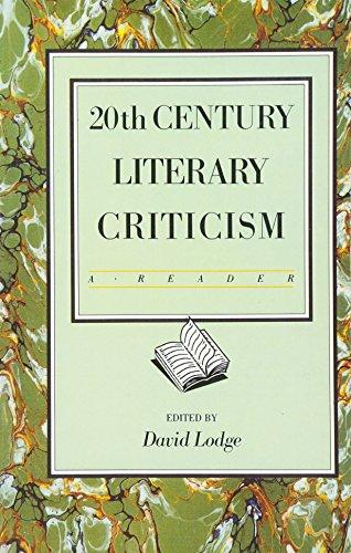 Twentieth Century Literary Criticism By David Lodge