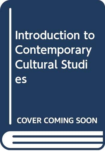 Introduction to Contemporary Cultural Studies By Edited by David Punter