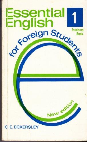 Essential English: Bk.1 by C. E. Eckersley