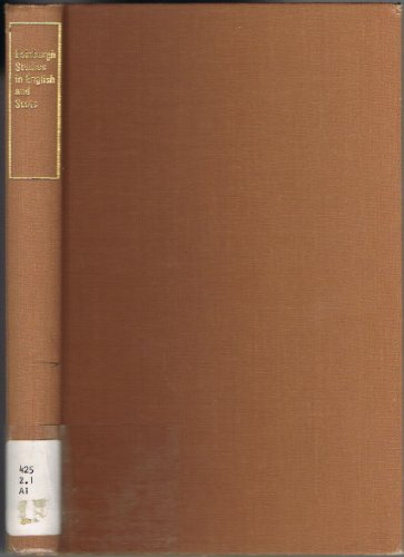 Edinburgh Studies in English and Scots By A. J. Aitken