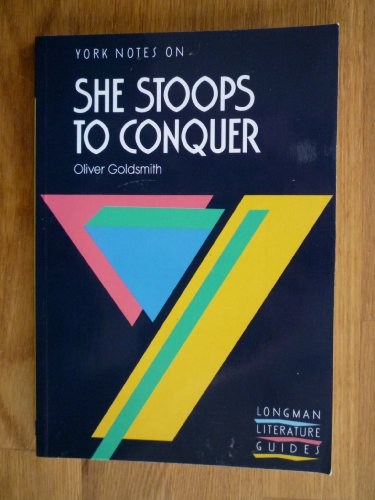She Stoops to Conquer By A. Norman Jeffares