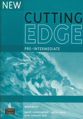 New Cutting Edge Pre-Intermediate Workbook No Key By Sarah Cunningham