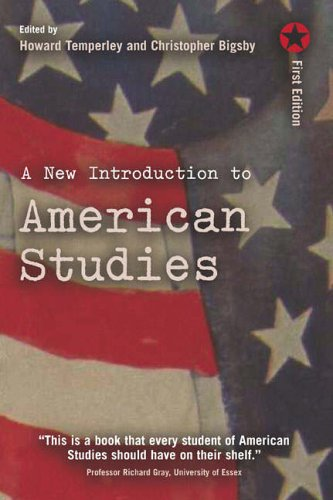 A New Introduction to American Studies By Howard Temperley