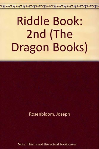 Riddle Book By Joseph Rosenbloom