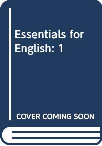 Essentials for English By Various