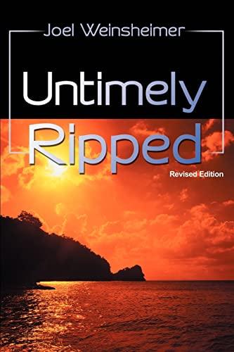 Untimely Ripped By Professor Joel Weinsheimer