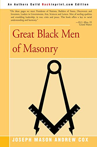 Great Black Men of Masonry By Joseph Cox