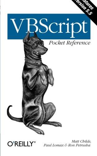VBScript Pocket Reference By Matt Childs