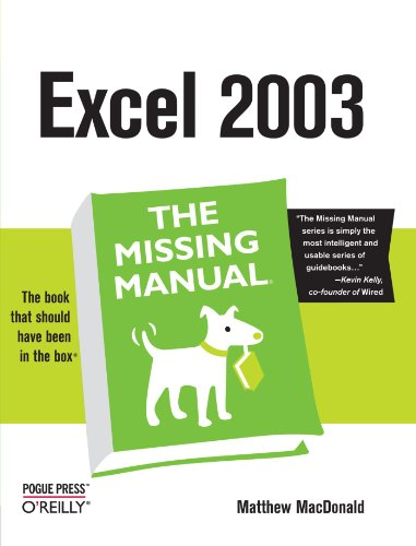 Excel 2003 the Missing Manual By Matthew MacDonald
