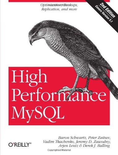 High Performance MySQL By Baron Schwartz