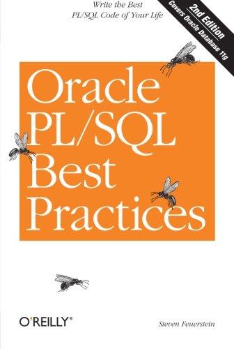 Oracle PL/SQL Best Practices By Steven Feuerstein