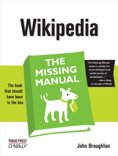 Wikipedia the Missing Manual By John Broughton