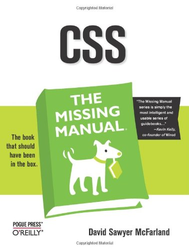 CSS the Missing Manual By David Sawyer McFarland