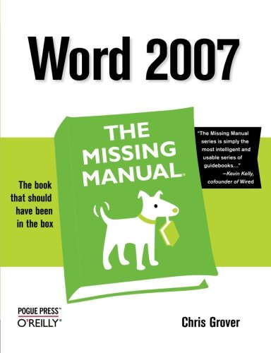 Word 2007: The Missing Manual (Missing Manuals) By Guy Hart-Davis