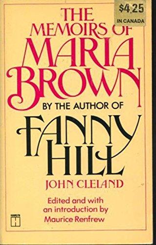 Memoirs of Maria Brown By John Cleland