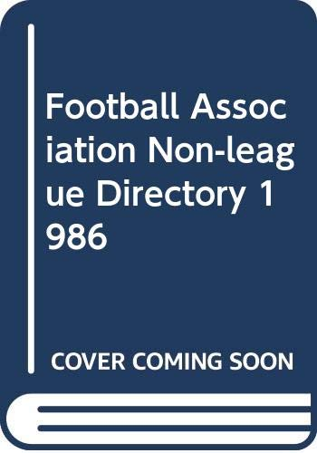 Football Association Non-league Directory By Volume editor Tony Williams