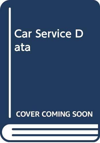 Car Service Data By Volume editor J.N. Seale