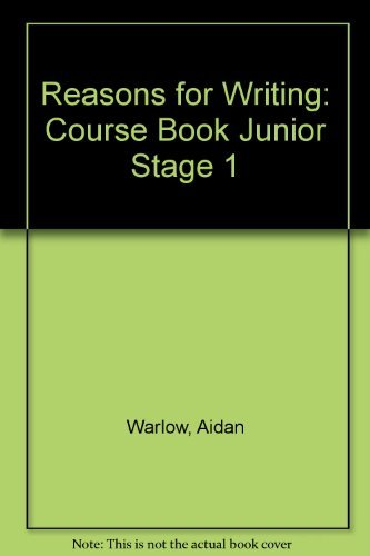 Reasons For Writing National Curriculum Stage 1 Course Book By Aidan Warlow