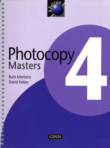 1999 Abacus Year 4 / P5: Photocopy Masters By David Kirkby