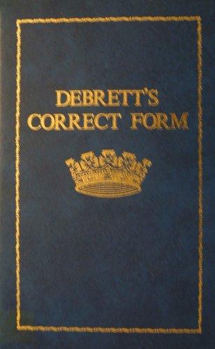 Debrett's Correct Form By Patrick Montague-Smith