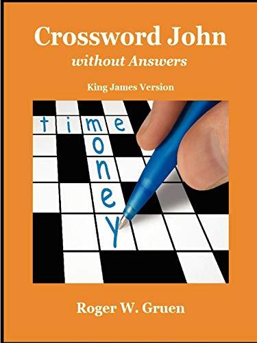 Crossword John Without Answers By Roger W Gruen