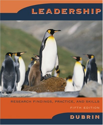 Leadership By Andrew J. DuBrin